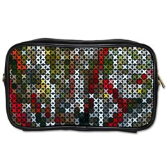 Christmas Cross Stitch Background Toiletries Bags 2 Side by Celenk