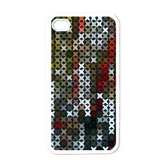 Christmas Cross Stitch Background Apple Iphone 4 Case (white) by Celenk
