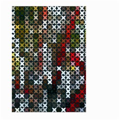 Christmas Cross Stitch Background Large Garden Flag (two Sides) by Celenk