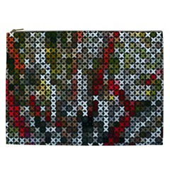 Christmas Cross Stitch Background Cosmetic Bag (xxl)  by Celenk