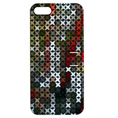 Christmas Cross Stitch Background Apple Iphone 5 Hardshell Case With Stand by Celenk