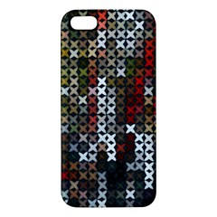 Christmas Cross Stitch Background Apple Iphone 5 Premium Hardshell Case by Celenk
