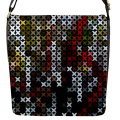 Christmas Cross Stitch Background Flap Messenger Bag (s) by Celenk