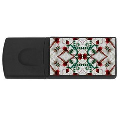 Christmas Paper Rectangular Usb Flash Drive by Celenk