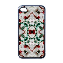 Christmas Paper Apple Iphone 4 Case (black) by Celenk