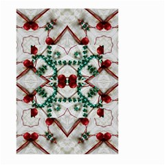 Christmas Paper Large Garden Flag (two Sides) by Celenk