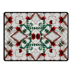 Christmas Paper Double Sided Fleece Blanket (small)  by Celenk