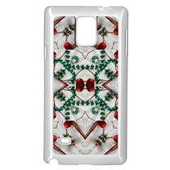 Christmas Paper Samsung Galaxy Note 4 Case (white) by Celenk