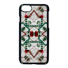 Christmas Paper Apple Iphone 7 Seamless Case (black) by Celenk