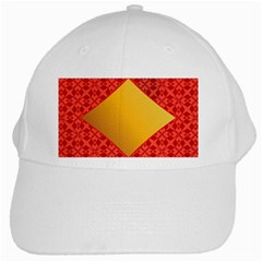 Christmas Card Pattern Background White Cap by Celenk