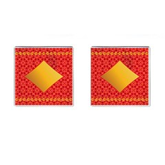 Christmas Card Pattern Background Cufflinks (square) by Celenk