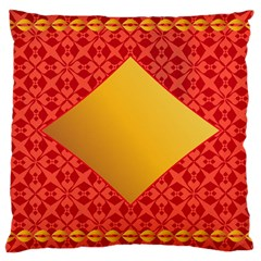 Christmas Card Pattern Background Large Cushion Case (one Side) by Celenk