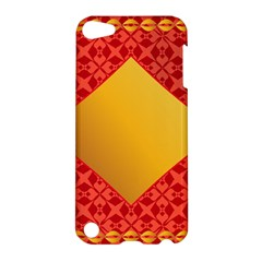 Christmas Card Pattern Background Apple Ipod Touch 5 Hardshell Case by Celenk