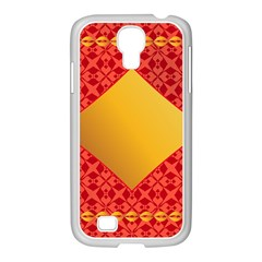 Christmas Card Pattern Background Samsung Galaxy S4 I9500/ I9505 Case (white) by Celenk