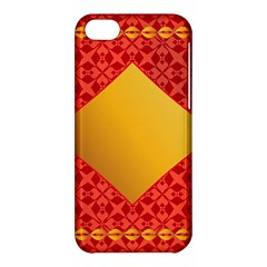 Christmas Card Pattern Background Apple Iphone 5c Hardshell Case by Celenk