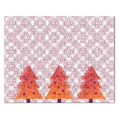 Christmas Card Elegant Rectangular Jigsaw Puzzl by Celenk