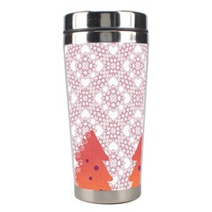 Christmas Card Elegant Stainless Steel Travel Tumblers by Celenk