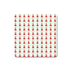 At On Christmas Present Background Square Magnet by Celenk