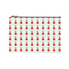At On Christmas Present Background Cosmetic Bag (large)  by Celenk