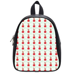 At On Christmas Present Background School Bag (small) by Celenk