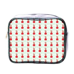 At On Christmas Present Background Mini Toiletries Bags by Celenk