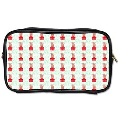 At On Christmas Present Background Toiletries Bags 2 Side by Celenk