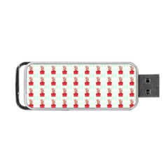 At On Christmas Present Background Portable Usb Flash (two Sides) by Celenk
