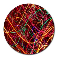 Wave Behaviors Round Mousepads by Celenk