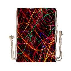 Wave Behaviors Drawstring Bag (small) by Celenk