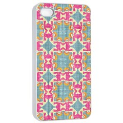 Christmas Wallpaper Apple Iphone 4/4s Seamless Case (white) by Celenk