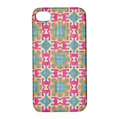 Christmas Wallpaper Apple Iphone 4/4s Hardshell Case With Stand by Celenk