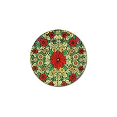 Calsidyrose Groovy Christmas Golf Ball Marker (4 Pack) by Celenk