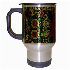 Calsidyrose Groovy Christmas Travel Mug (silver Gray) by Celenk