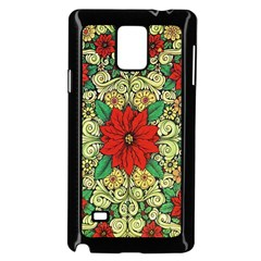 Calsidyrose Groovy Christmas Samsung Galaxy Note 4 Case (black) by Celenk