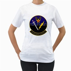16th Electronic Warfare Squadron Women s T Shirt (white) (two Sided) by allthingseveryday