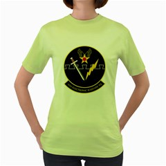 16th Electronic Warfare Squadron Women s Green T Shirt by allthingseveryday
