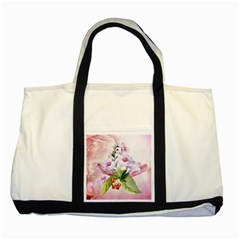 Wonderful Flowers, Soft Colors, Watercolor Two Tone Tote Bag by FantasyWorld7
