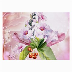 Wonderful Flowers, Soft Colors, Watercolor Large Glasses Cloth (2 Side) by FantasyWorld7