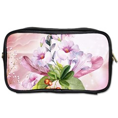 Wonderful Flowers, Soft Colors, Watercolor Toiletries Bags 2 Side by FantasyWorld7