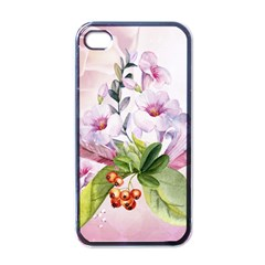 Wonderful Flowers, Soft Colors, Watercolor Apple Iphone 4 Case (black) by FantasyWorld7