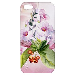 Wonderful Flowers, Soft Colors, Watercolor Apple Iphone 5 Hardshell Case by FantasyWorld7