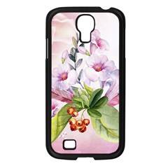 Wonderful Flowers, Soft Colors, Watercolor Samsung Galaxy S4 I9500/ I9505 Case (black) by FantasyWorld7