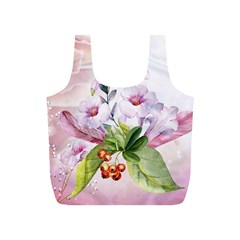 Wonderful Flowers, Soft Colors, Watercolor Full Print Recycle Bags (s)  by FantasyWorld7