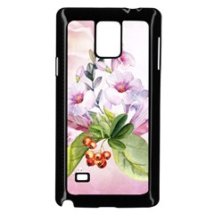Wonderful Flowers, Soft Colors, Watercolor Samsung Galaxy Note 4 Case (black) by FantasyWorld7