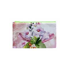 Wonderful Flowers, Soft Colors, Watercolor Cosmetic Bag (xs) by FantasyWorld7