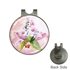 Wonderful Flowers, Soft Colors, Watercolor Hat Clips With Golf Markers by FantasyWorld7