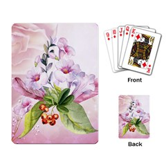 Wonderful Flowers, Soft Colors, Watercolor Playing Card by FantasyWorld7