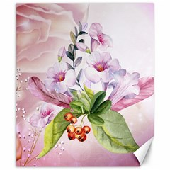 Wonderful Flowers, Soft Colors, Watercolor Canvas 8  X 10  by FantasyWorld7
