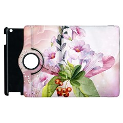 Wonderful Flowers, Soft Colors, Watercolor Apple Ipad 2 Flip 360 Case by FantasyWorld7