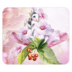 Wonderful Flowers, Soft Colors, Watercolor Double Sided Flano Blanket (small)  by FantasyWorld7